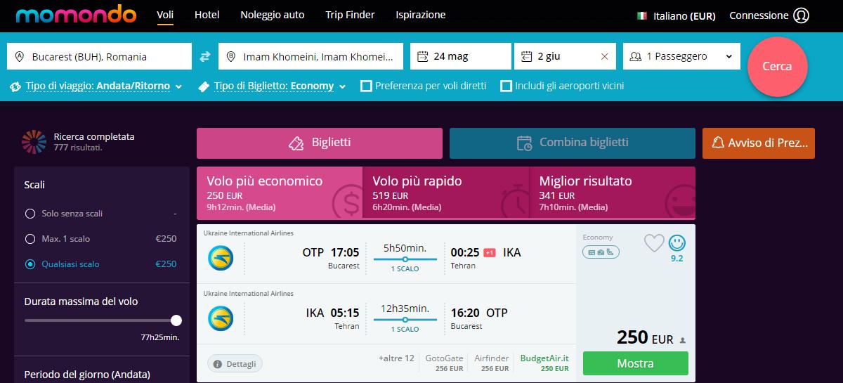 promoție-milano-teheran  bucuresti-teheran-250-de-euro