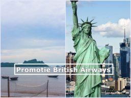 Promoție British Airways București-Vietnam 430 de euro sau Crăciun la New York 420 de euro