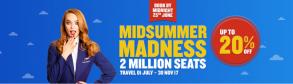 Ofertă Ryanair escapadă de vară. 2 milioane de bilete de la 10 euro pe sens